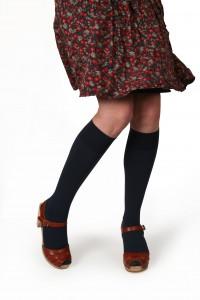 Chaussette marine: à porter avec du gris ou du noir...
